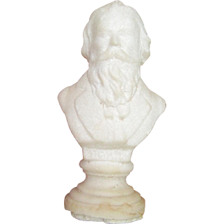 Miniature Saltware Statues of Brahms and Chopin, Composers