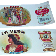 "Vintage ""La Boda"" (The Wedding) Cigar Box Paper copyright 1924"