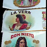 """Vintage """"La Vera"""" Cigar Box Paper; copyright 1921"""