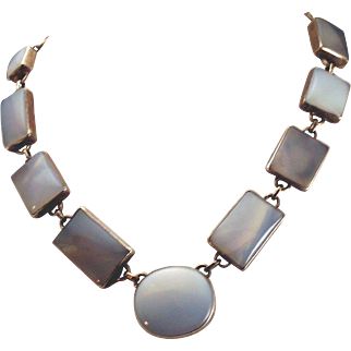 Artisan Chalcedony and Silver Necklace