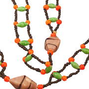 Colorful Beaded necklace, probably Czech from the 30's, Sautoir