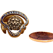 Enamel British Legion with Lion Buttonhole Pin