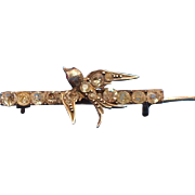 Swallow paste petite bar pin Victorian