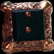 Black copper large vintage button