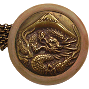 Dragon with Mt Fuji Netsuke