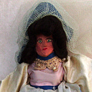 Handmade Wooden Doll with Great Details