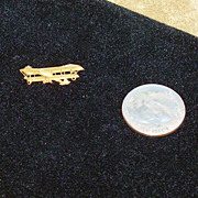 Tiniest Doll-size Vintage Wright Brothers Biplane Pin