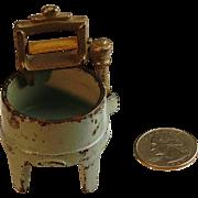 Vintage Doll size Metal Washboard or Metal Washing Machine - Red Tag Sale Item