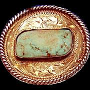 Vogt Turquoise Sterling Silver Scarf Slide hallmarked - Red Tag Sale Item