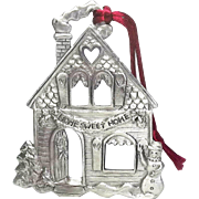 Home Sweet Home - 1996 Seagull Pewter - Christmas Ornament Decoration