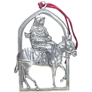 Mary Riding A Donkey - 1996 Seagull Pewter - Christmas Ornament Decoration