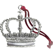 Crown - 1996 Seagull Pewter - Christmas Ornament Decoration