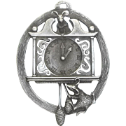 Hickory Dickory Dock - 1991 Hampshire Pewter - Christmas Ornament Decoration