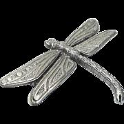 pewter Dragonfly - vintage JJ pin