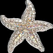 rhinestone Starfish - Spoontiques pin brooch