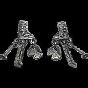 Ski Skiing Boots - JJ pierced earrings