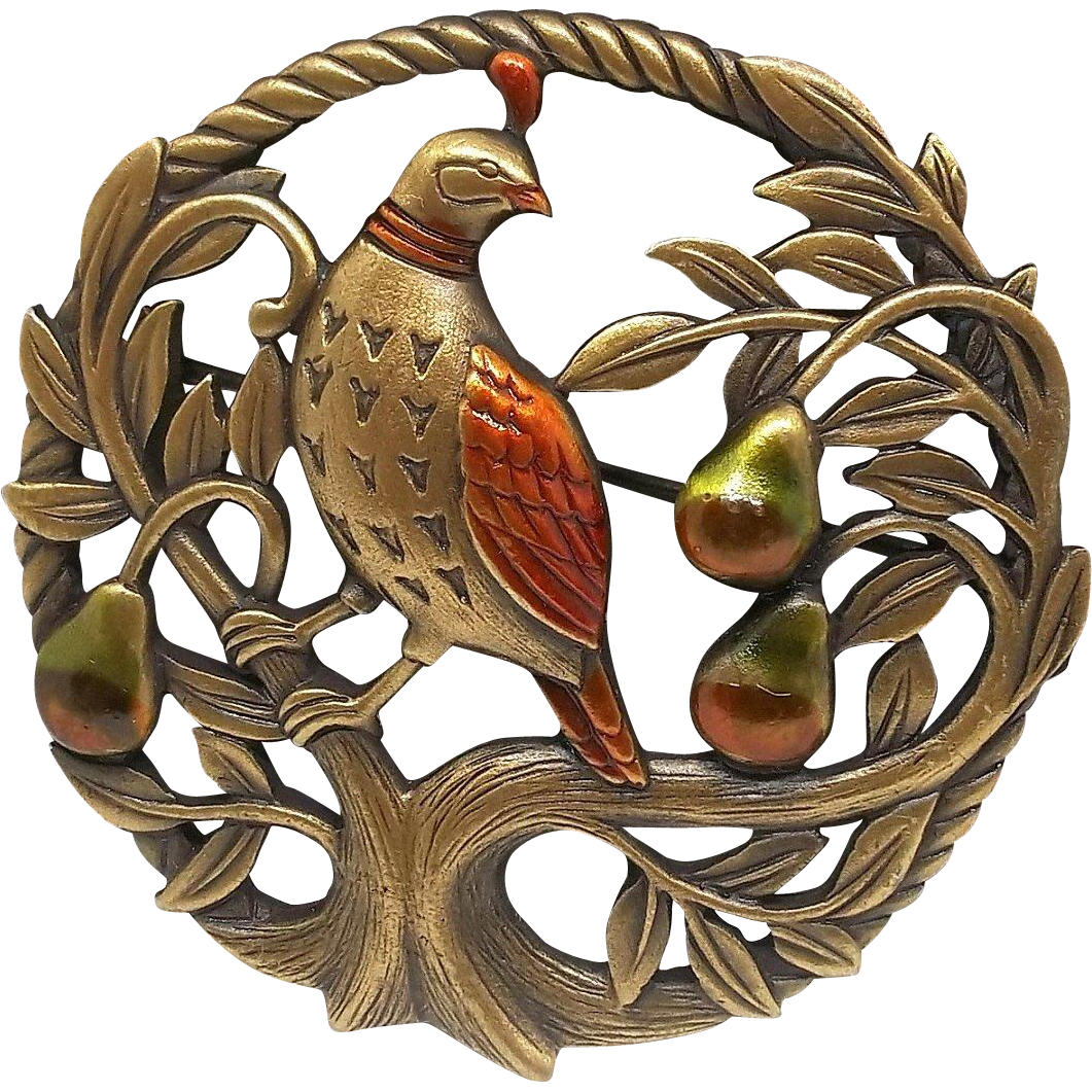 Partridge in a Pear Tree - Christmas Holiday - JJ pin from dollherup on Ruby Lane
