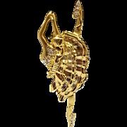 gold tone Ballerina - vintage Danecraft pin brooch