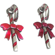 Candy Cane earrings - Holiday Christmas - JJ
