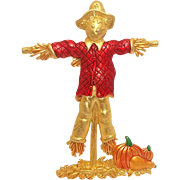Scarecrow - Harvest brooch pin - JJ