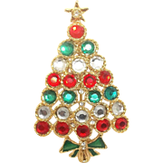 Festive Christmas Tree - Danecraft Holiday brooch