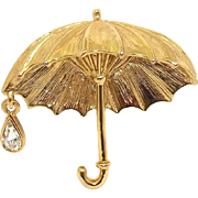Umbrella Rain Drop - Danecraft pin brooch