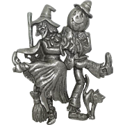 Scarecrow Witch - Danecraft Halloween pin
