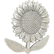 Sunflower - Spoontiques pin brooch