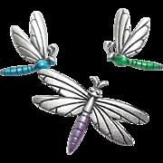 3 Dragonfly tac pins - Spoontiques