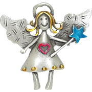 Little Angel With Wand - JJ pin brooch