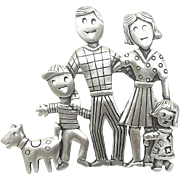 Family - JJ pin brooch