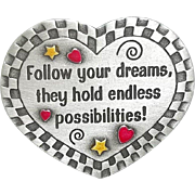 Follow Your Dreams - Spoontiques  Heart pin brooch