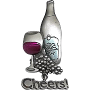 Cheers Wine - Spoontiques pin brooch