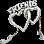 Friends Telephone Heart - JJ pin J.J. Brooch