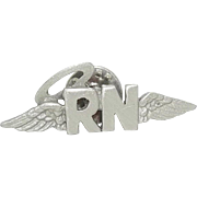 RN Nurse pin - Halo Wings - JJ pin Stocking Stuffer