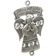 Bless This Home - Angel door wall plaque - JJ