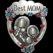 Best Mom - JJ Mother Daughter pin brooch