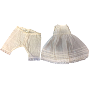 """Old Cotton Petticoat and Drawers to fit 12""""-14"""" French or German Doll"""