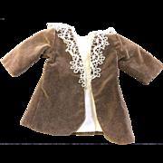 Vintage Velvet Coat with Antique Lace Collar