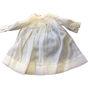 Cute white Smocked Dress for small doll or all bisque