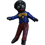 "Very Cute 2"" Porcelain Golliwog on Presentation Card"
