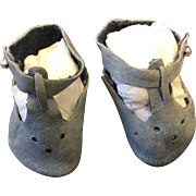 Vintage Grey Doll Shoes