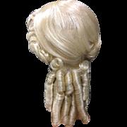 """Vintage Blonde Dolls Wig 16-17"""""""