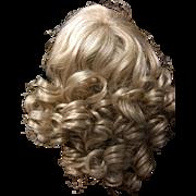 """Vintage Blonde Doll Wig.  Size  9"""" - 10"""""""