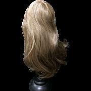 "Vintage Human Hair Doll Wig. Brown Size 8-9"""