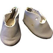 Small Vintage Grey Leather Doll Shoes