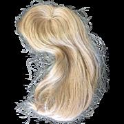 """Vintage Blonde Human Hair Doll Wig 10"""""""