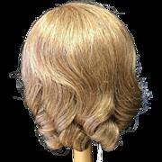 "Beautiful Honey Blonde Human Hair Wig 12"""
