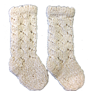 Cream Cotton Doll Knitted Socks