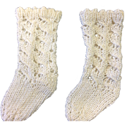 White Knitted Doll Socks